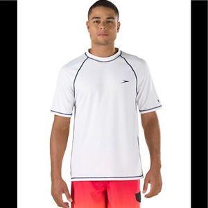 NWT Speedo short sleeve swim shirt UV guard